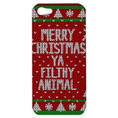 Ugly Christmas Sweater Apple Iphone 5 Hardshell Case