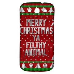 Ugly Christmas Sweater Samsung Galaxy S3 S Iii Classic Hardshell Back Case