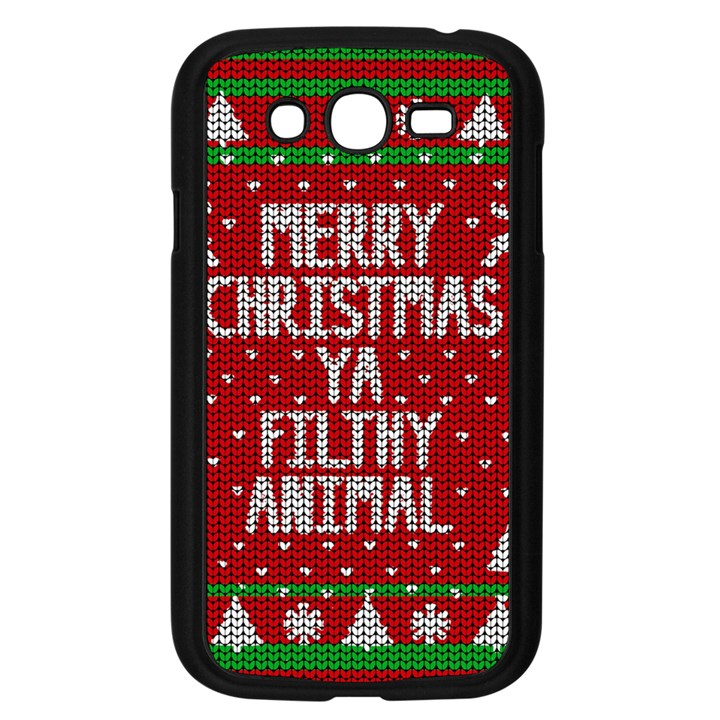 Ugly Christmas Sweater Samsung Galaxy Grand DUOS I9082 Case (Black)