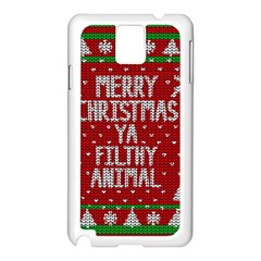 Ugly Christmas Sweater Samsung Galaxy Note 3 N9005 Case (white)