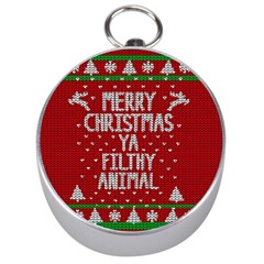 Ugly Christmas Sweater Silver Compasses