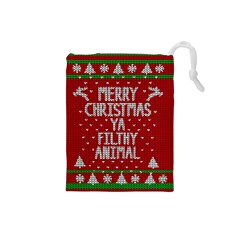 Ugly Christmas Sweater Drawstring Pouches (small)