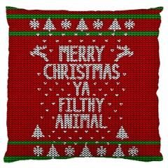 Ugly Christmas Sweater Large Flano Cushion Case (one Side)