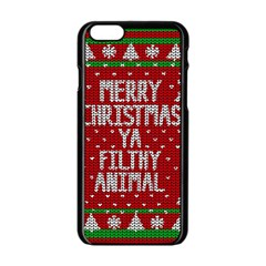 Ugly Christmas Sweater Apple Iphone 6/6s Black Enamel Case