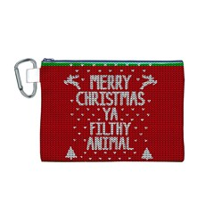 Ugly Christmas Sweater Canvas Cosmetic Bag (m)