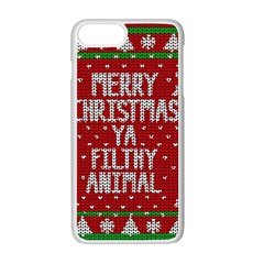 Ugly Christmas Sweater Apple Iphone 7 Plus Seamless Case (white)