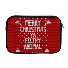 Ugly Christmas Sweater Apple Macbook Pro 17  Zipper Case