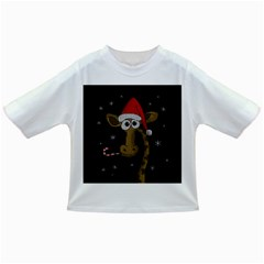 Christmas Giraffe  Infant/toddler T Shirts