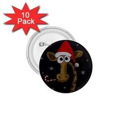Christmas Giraffe  1 75  Buttons (10 Pack)