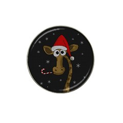 Christmas Giraffe  Hat Clip Ball Marker (4 Pack)