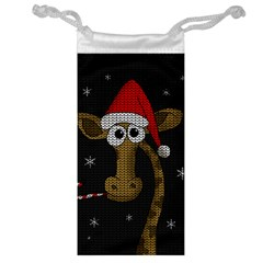 Christmas Giraffe  Jewelry Bag