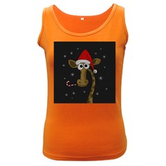 Christmas Giraffe  Women s Dark Tank Top