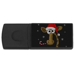 Christmas Giraffe  Rectangular Usb Flash Drive