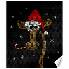 Christmas Giraffe  Canvas 20  X 24
