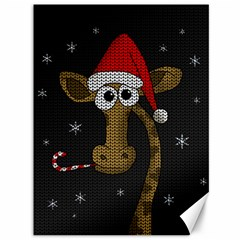 Christmas Giraffe  Canvas 36  X 48