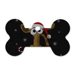 Christmas Giraffe  Dog Tag Bone (two Sides)