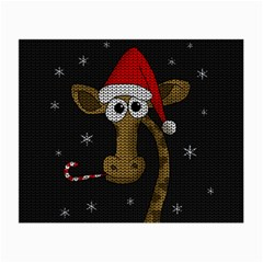 Christmas Giraffe  Small Glasses Cloth (2 Side)