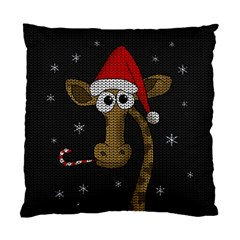 Christmas Giraffe  Standard Cushion Case (one Side)