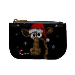 Christmas Giraffe  Mini Coin Purses