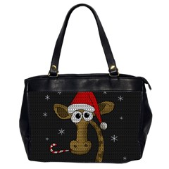 Christmas Giraffe  Office Handbags (2 Sides)
