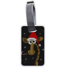 Christmas Giraffe  Luggage Tags (two Sides)