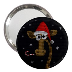 Christmas Giraffe  3  Handbag Mirrors