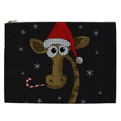 Christmas Giraffe  Cosmetic Bag (xxl)