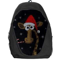 Christmas Giraffe  Backpack Bag