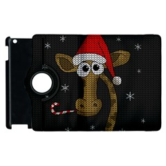 Christmas Giraffe  Apple Ipad 3/4 Flip 360 Case
