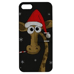 Christmas Giraffe  Apple Iphone 5 Hardshell Case With Stand