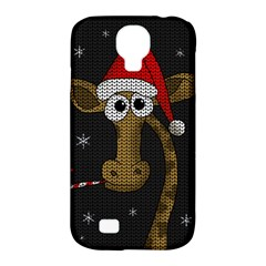 Christmas Giraffe  Samsung Galaxy S4 Classic Hardshell Case (pc+silicone)