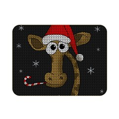 Christmas Giraffe  Double Sided Flano Blanket (mini)