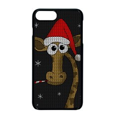 Christmas Giraffe  Apple Iphone 7 Plus Seamless Case (black)