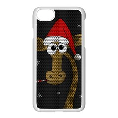 Christmas Giraffe  Apple Iphone 7 Seamless Case (white)