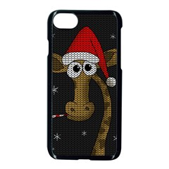 Christmas Giraffe  Apple Iphone 8 Seamless Case (black)