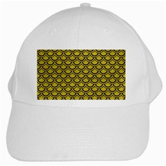 Scales2 Black Marble & Yellow Leather White Cap