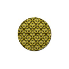 Scales2 Black Marble & Yellow Leather Golf Ball Marker (10 Pack)
