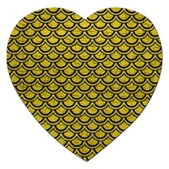 Scales2 Black Marble & Yellow Leather Jigsaw Puzzle (heart)