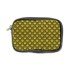 Scales2 Black Marble & Yellow Leather Coin Purse