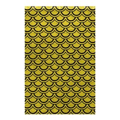 Scales2 Black Marble & Yellow Leather Shower Curtain 48  X 72  (small)
