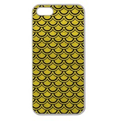 Scales2 Black Marble & Yellow Leather Apple Seamless Iphone 5 Case (clear)