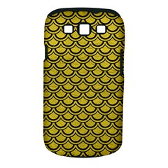 Scales2 Black Marble & Yellow Leather Samsung Galaxy S Iii Classic Hardshell Case (pc+silicone)