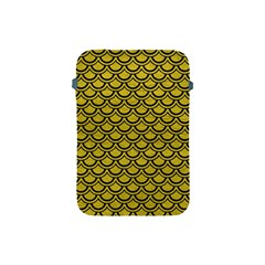 Scales2 Black Marble & Yellow Leather Apple Ipad Mini Protective Soft Cases