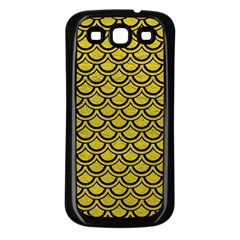 Scales2 Black Marble & Yellow Leather Samsung Galaxy S3 Back Case (black)