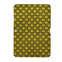Scales2 Black Marble & Yellow Leather Samsung Galaxy Tab 2 (10 1 ) P5100 Hardshell Case