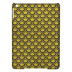 Scales2 Black Marble & Yellow Leather Ipad Air Hardshell Cases