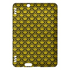Scales2 Black Marble & Yellow Leather Kindle Fire Hdx Hardshell Case