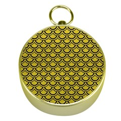 Scales2 Black Marble & Yellow Leather Gold Compasses