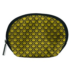 Scales2 Black Marble & Yellow Leather Accessory Pouches (medium)