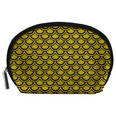 Scales2 Black Marble & Yellow Leather Accessory Pouches (large)